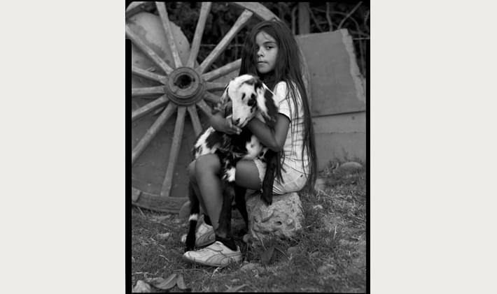 Portrait of a Girl with a Goat by Sebastian Loaysa