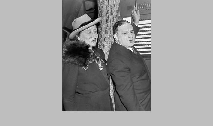 Mayor Fiorello La Guardia and his wife Marie voting in the 1941 mayoral election