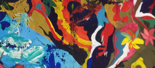 Fine Arts: Abstract image with different colors in a painting