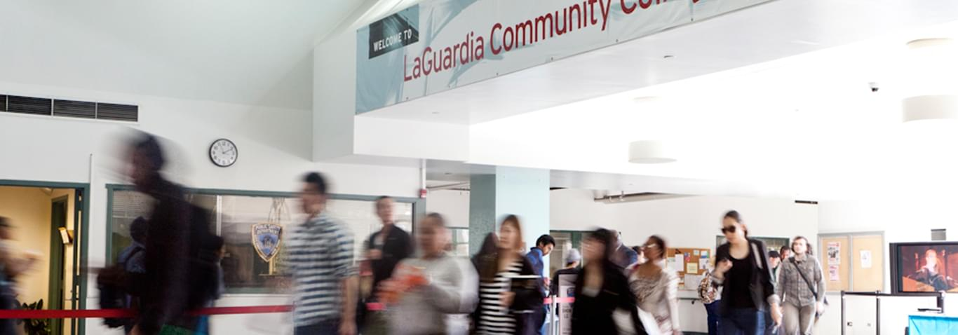 Photo of students at LaGuardia Community College.