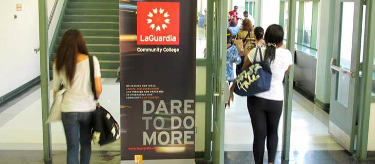 LaGuardia Students heading to atrium