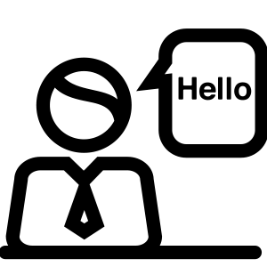 Vector Image of a person saying Hello