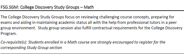 CD Study Group: MATH 2018