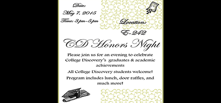 College Discovery Honor's Night 2015
