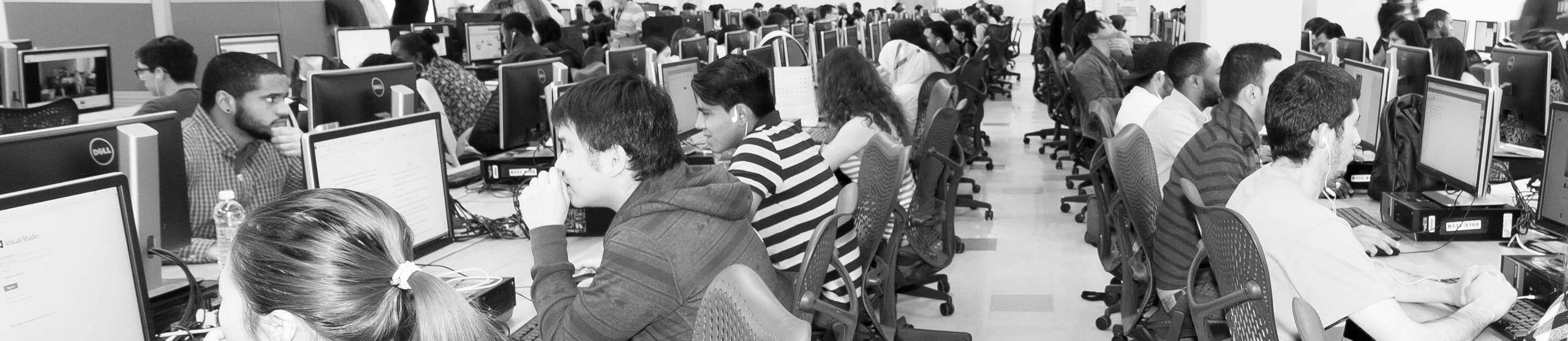 Students using computers at Computer LAB