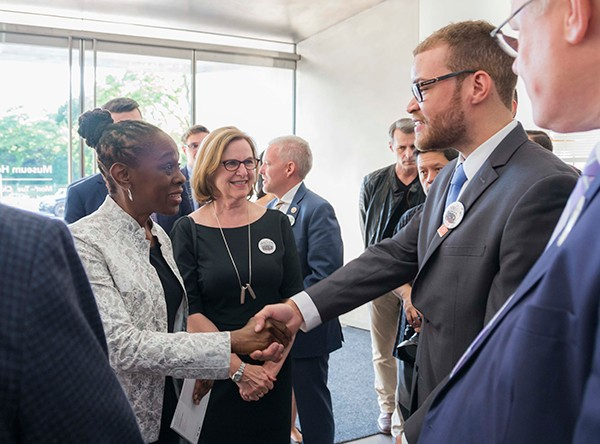 NYC First Lady Chirlane McCray with Jham Valenzuela