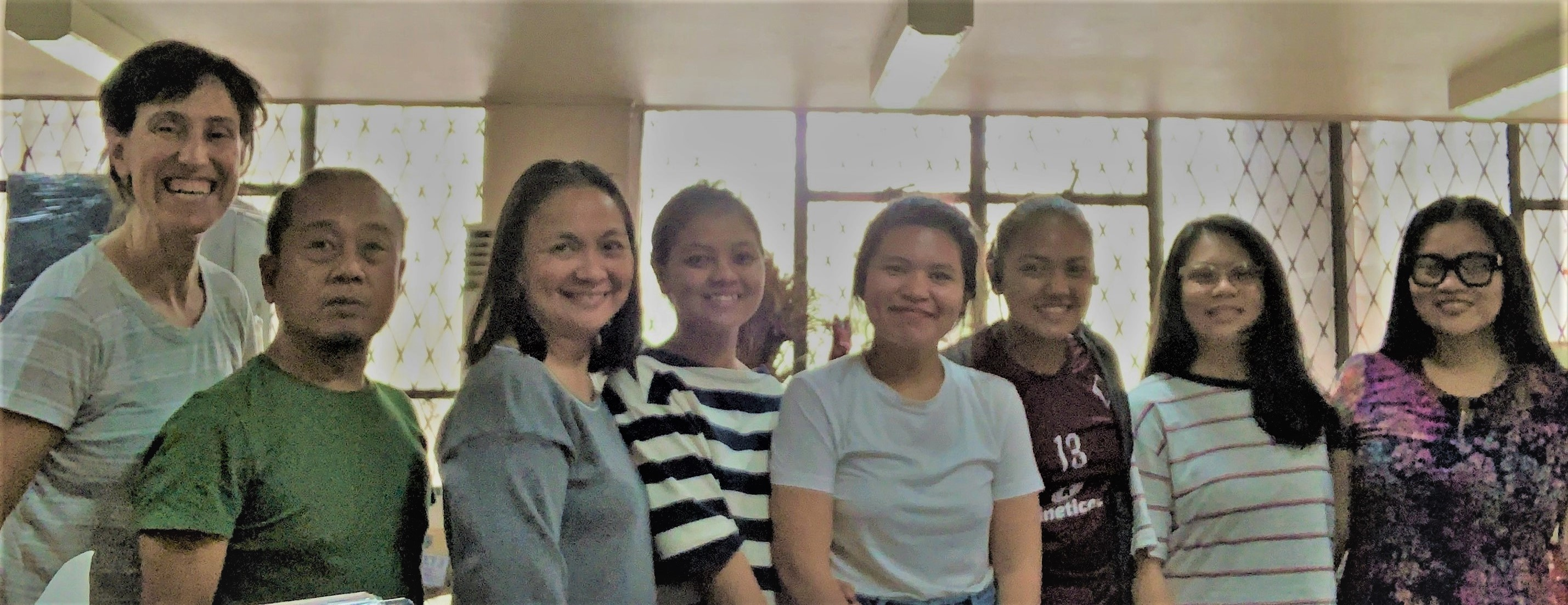 Dr. Karen Miller (at left) with members of the faculty and staff at the Center for International Studies, University of the Philippines