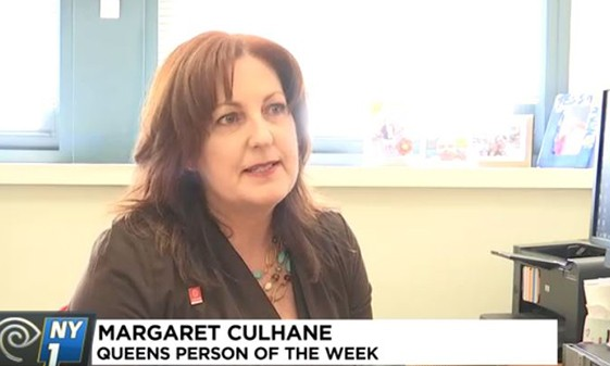 LaGuardia English Language Coordinator, and Volunteers, Recognized as NY1's Queens People of the Week
