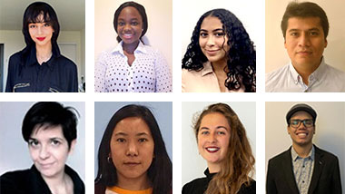 Portrait shots of the 8 semifinalist for the for Prestigious Jack Kent Cooke Scholarship