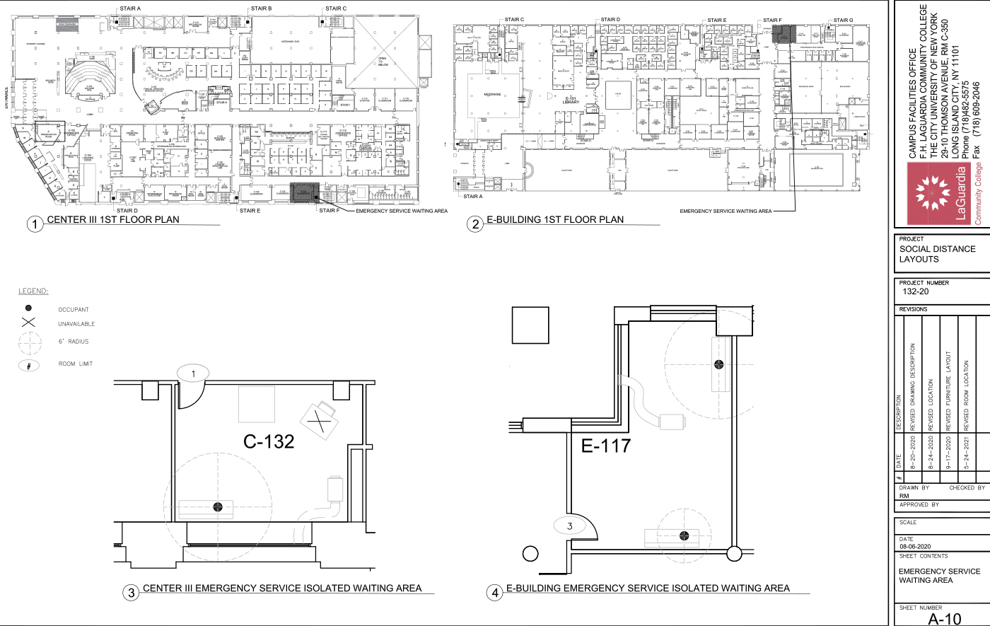 LaGuardia's campus facilities_centerIII 1st floor_Shenker hall 1st floor plan