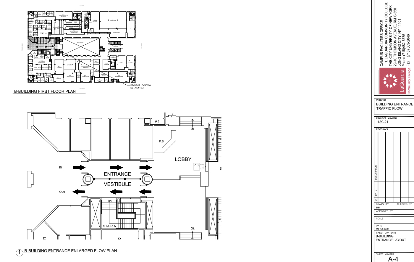 LaGuardia's campus facilities office_center III 3rd floor classroom layout