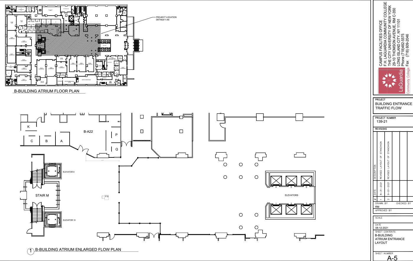 LaGuardia's campus facilities office_center III 2nd floor computer lab layout