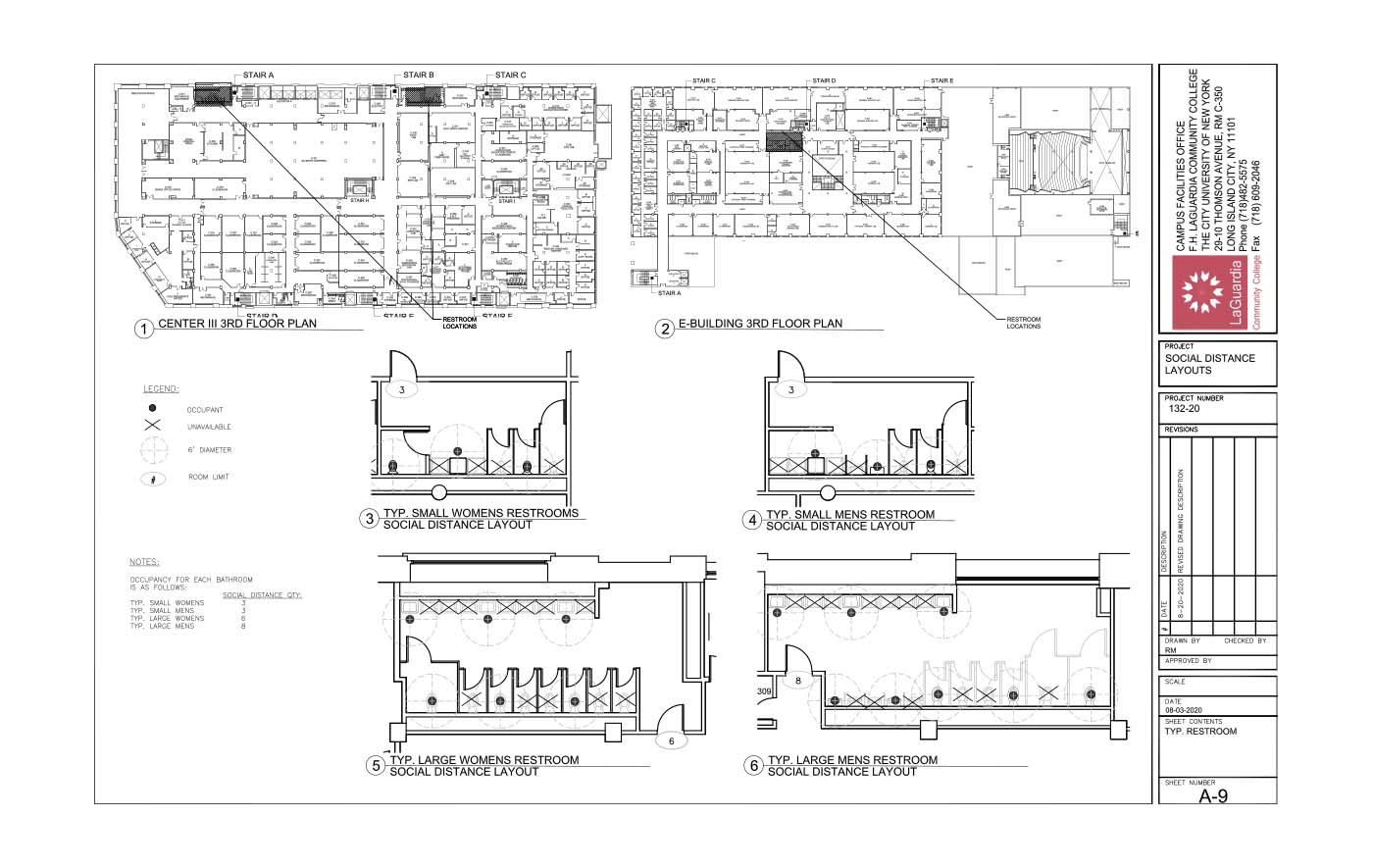 LaGuardia's campus facilities_E-building_center III 3rd floor plan