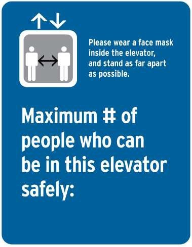 Max number of people allowed in elevators