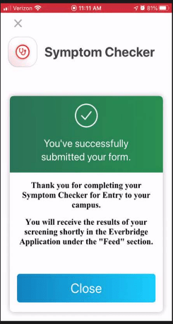 successful submission screenshot