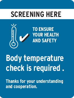 Body temp check is required