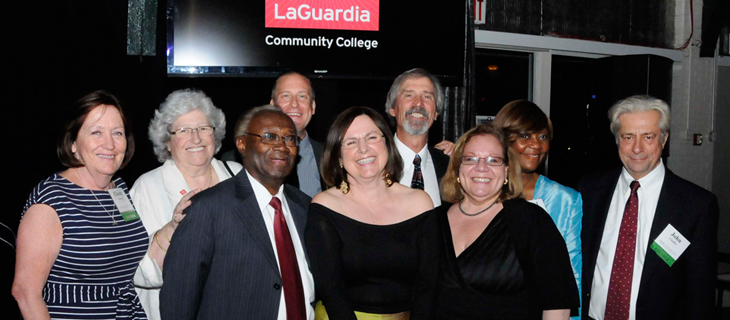 President Dr. Gail O. Mellow with LaGuardia Founders